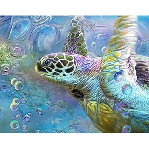 YUMEART Full Square Drill 5D DIY Diamond Painting Cross Stitch Sea Turtle 3D Diamond Embroidery Mosaic Rhinestone Wall Decor Creative Gifts