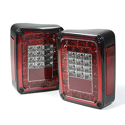 Rugged Ridge 12403.88 LED Smoke Tail Light Set