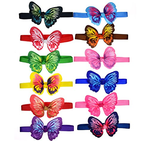 yagopet 10pcs/pack New Puppy Dog Bow Ties Butterfly Bows Cat Dog Bowties Collar Festival Puppy Dog Ties Dog Grooming ()