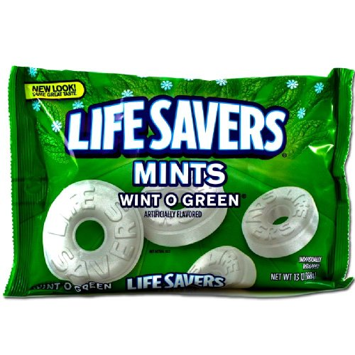 Life Savers Wint O Green Mints Bag, 13 ounce ( Pack of 2 )]()
