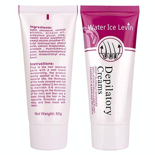 Nightmood Hair Removal Cream Painless Natural Plant Depilatory Cream Hair Growth Inhibitor Permanent Hair Remover Used on Bikini Underarm Chest Back Legs Hair Remove Cream For Women & Men 60g