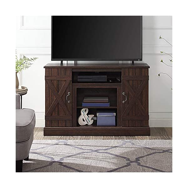 """BELLEZE Veropeso 46"""" Industrial Wood TV Stand Console for TV's Up to 50"""", Espresso"""