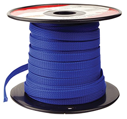 - BLUE 1/4 100FT BRAIDED EXPANDABLE FLEX SLEEVE WIRING HARNESS LOOM WIRE COVER