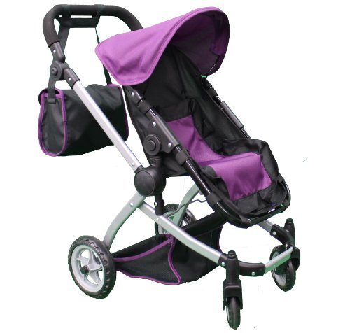 Mommy & Me Deluxe Babyboo Doll Stroller with Swiveling Wheels with Free Carriage Bag (Multi Function View All Photos) - 9651C ()