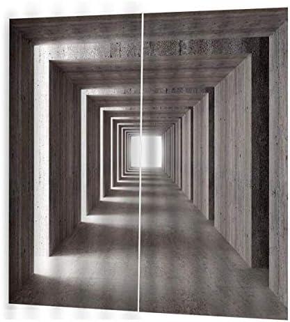 QinKingstore コンクリートカーテン150 * 166クリエイティブホームインテリアベッドルームリビングルームカーテンホテル装飾カーテン