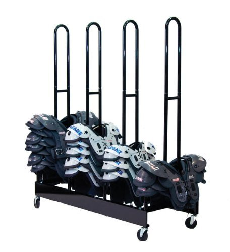 (Champion Sports Four Stack Football Shoulder Pad Rack (Black))