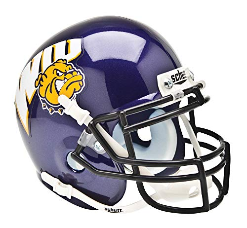 Schutt NCAA Western Illinois Leathernecks Mini Authentic XP Football Helmet, Classic