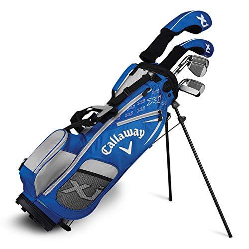 (Callaway Golf Xj Junior Golf Set, Level 3, 7 Piece Set, Right Hand, Blue)