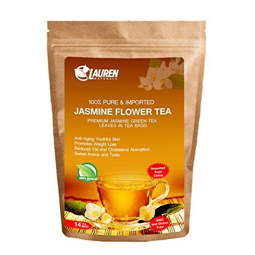 Asian Jasmine White Tea (Tea Bags Imported Jasmine Green Tea - Risk Free Full Money Back Guarantee)