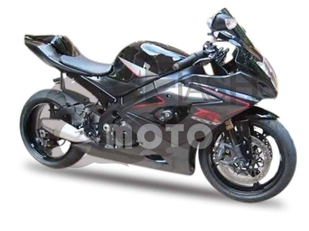 FlashMoto suzuki 鈴木 スズキ K5 GSXR1000 2005 2006用フェアリング 塗装済 オートバイ用射出成型ABS樹脂ボディワークのフェアリングキットセット ブラック   B07M5TD65S