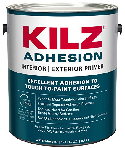 (KILZ L211101 Adhesion High-Bonding Interior Latex Primer/Sealer, White, 1-Gallon, 1 Gallon, 4 l)