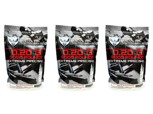 MetalTac Airsoft BBs 0.20g 15,000 Round 6mm BBs Airsoft Pellets for airsoft bb guns