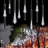 Fheimin® 50CM 8 Tubes 240 LED Meteor Shower Rain Lights Waterproof String for Wedding Party Valentine's Day Decoration Tree (White)