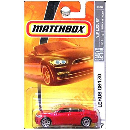 Matchbox Vip Luxury Lexus Gs430 Sedan In Red Metallic