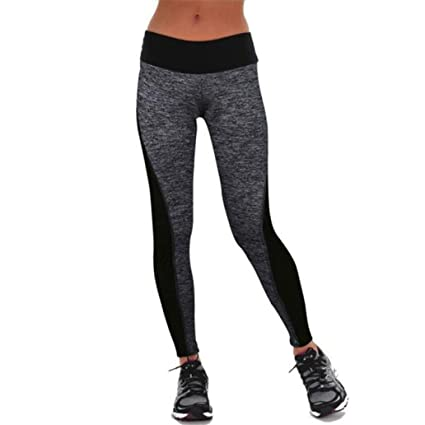 1584db5bf2a Legging Pantalon de Sport Femme Yoga Fitness Gym Pilates Gaine large super  doux Coton pantalon harem yoga pilates Patchwork GongzhuMM (S