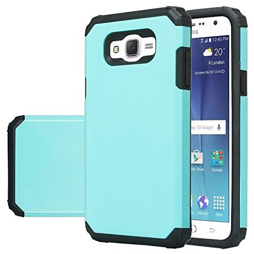 new concept 375d2 51b64 Galaxy J7 Case, Samsung Galaxy J7 [Shock Absorption / Impact Resistant]  Hybrid Dual Layer Armor Defender Protective Case Cover for Galaxy J7 (Boost  ...