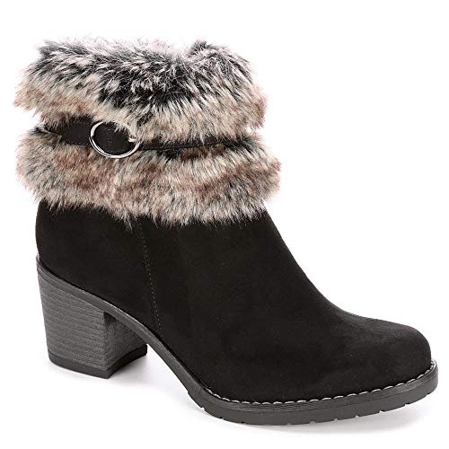 XAPPEAL Womens Bunny Faux Fur Heeled Ankle Boot Shoes,, used for sale  Delivered anywhere in USA