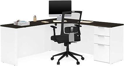 Bestar Pro Concept Plus esquina escritorio en blanco y de ...