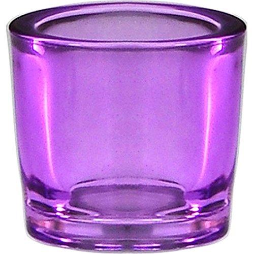 Bluecorn Beeswax Heavy Glass Votive And Tea Light Candle Holders  1  Lilac