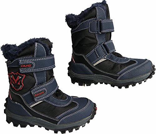 Jungen Kinder Winter Stiefel Boots warm gefuettert gr.25 - 36 art.nr.5017/18 Navy