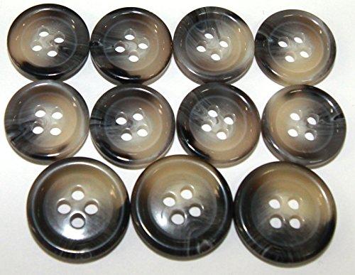 New 11 Pc Italian Tailors Button Set - Snail beige - For Blazer, Sport Coat, Uniform, Jacket