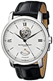 Baume & Mercier Men's MOA08869 Automatic Stainless Steel with Synthetic Leather Croco-Embossed Black Band Watch