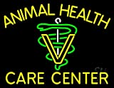 Yellow Animal Health Care Center Outdoor Neon Sign 24'' Tall x 31'' Wide x 3.5'' Deep