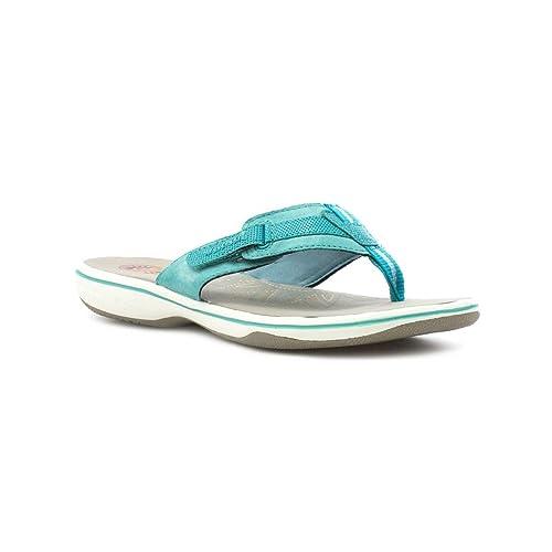 f96e8f2a2f8e Earth Spirit Womens Teal Leather Comfort Sandal  Amazon.co.uk  Shoes ...