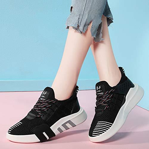 Mujer Hasag de Casuales Deportivo Calzado Transpirable black Nueva Zapatos Zapatos Malla wTqHY1CTx
