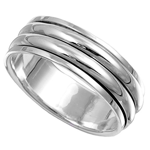 925 Sterling Silver Spinner Ring - 8