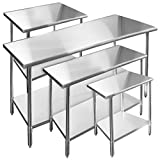 Gridmann Stainless Steel Commercial Kitchen Prep & Work Table - 72 in. x 30 in.