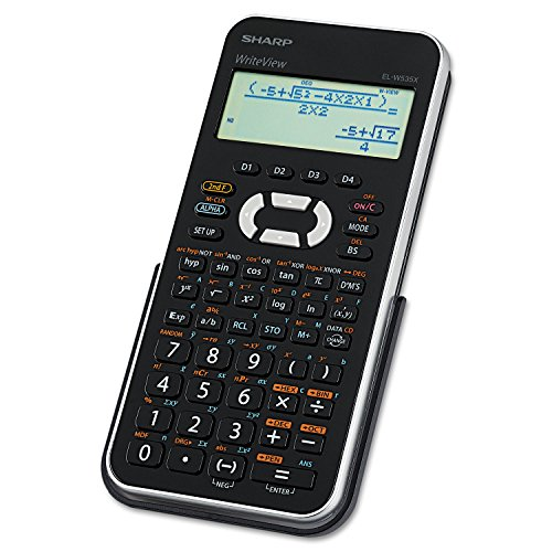 Sharp EL-W535XBSL Engineering/Scientific Calculator with WriteView 4 Line LCD Display (4 Line Display)