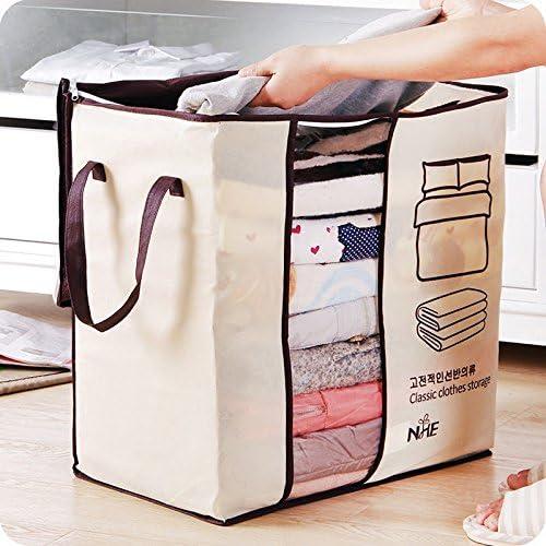 3x Large Non-woven Clothes Blanket Quilt Storage Bag Closet Organizer Box Holder