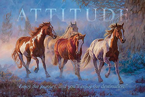 Attitude Horses Wood Sign Motivational Wood Sign by Chris Cummings Wild Wings 5209603701