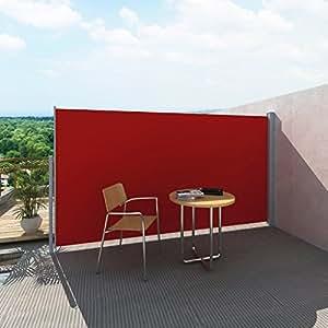 Festnight - Biombo Vertical para Patio o Terraza, 160x 300cm, azul, rojo