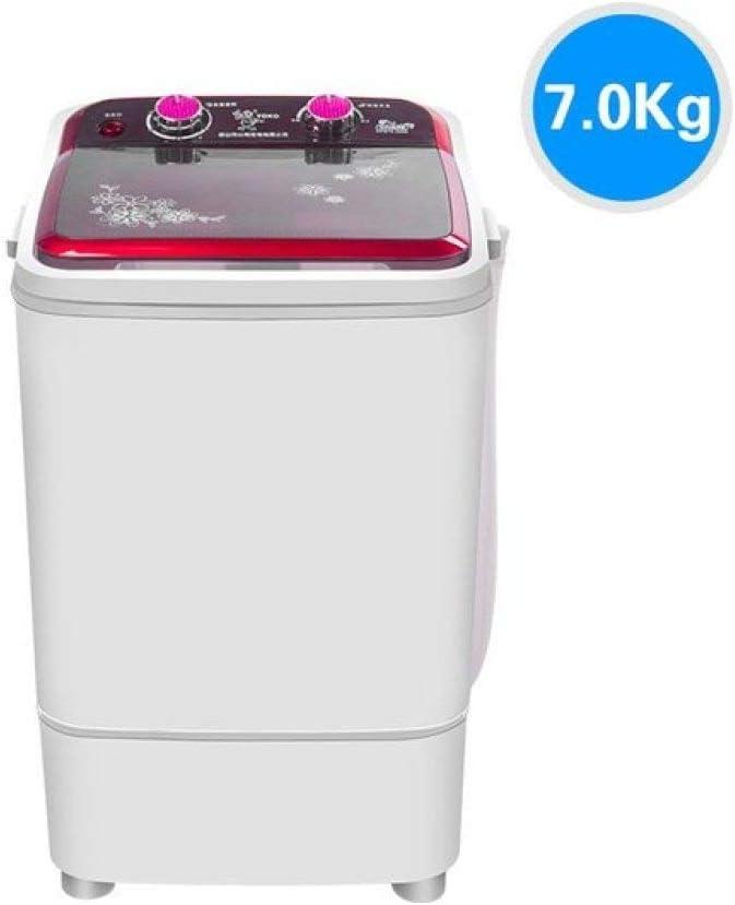 Lku Lavadora de Ropa eléctrica bebé, bañera Individual, Lavadora semiautomática, Acero Inoxidable ABS de Gran Capacidad, UE