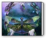 EZON-CH Modern Art Beautiful Dragonfly Art Canvas Wall Print Canvas Print Wall Art For Home Decoration Ready To Hang 20IN X 25IN