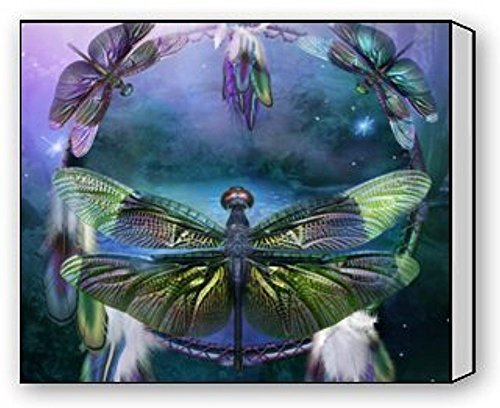 Dragonfly Canvas (EZON-CH Modern Art Beautiful Dragonfly Art Canvas Wall Print Canvas Print Wall Art For Home Decoration Ready To Hang 20IN X 25IN)