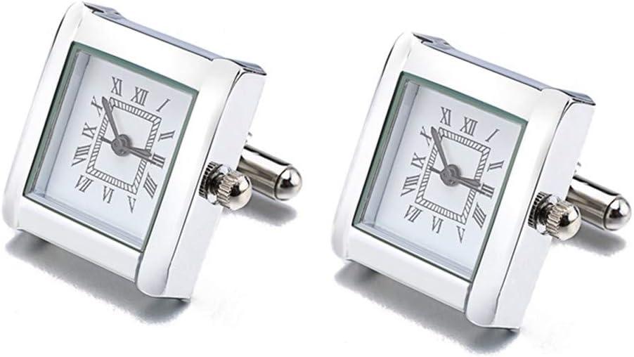 WYLCDGEOO Haute Qualit/é Horloge Multi-Fonction Montre Num/érique Horloge Boutons De Manchette Boutons De Manchette Royal Square Bouton Manchettes Montres