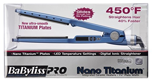 "BaBylissPRO Nano Titanium-Plated Straightening Iron, 1-1/4"""