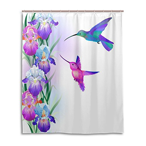 MRMIAN custom Stylish Decorative unique Cool Funky Fabric - Frosted Shower Curtain Large