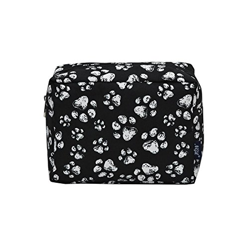 - NGIL Large Travel Cosmetic Pouch Bag Spring 2018 Collection (Puppy Paw Black)
