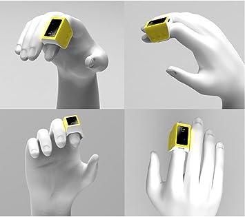 YYGIFT Control Remoto Inalámbrico Inteligente Bluetooth Sensor de Movimiento 3D Cuerpo Anillo de Dedo ratón con