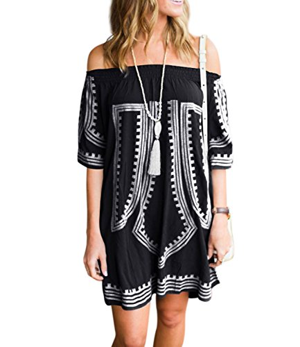 Off the Shoulder Bikini Top Women's Cover Up Beach Cover Ups Swimsuit Cover Up,Black,Normal