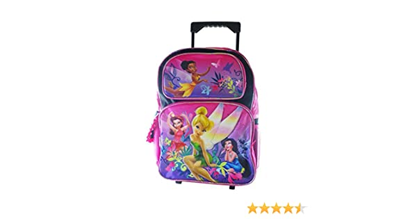 Amazon.com: Full Size Black Tinkerbell Rolling Backpack - Tinkerbell Luggage with Wheels: Sports & Outdoors