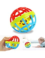CHOUREN Baby Rattles Toy Ball Ring Silicone Teether Training Grasping Ability Rattles Baby Teething Play Gym Toys For Children Goods Soft Glue Toy Rattle Early Education Puzzle (Color : Big11cm)