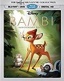 Disney Bambi Anniversary Edition (Blu-Ray+DVD+Digital HD) Collectible Lenticular Packaging