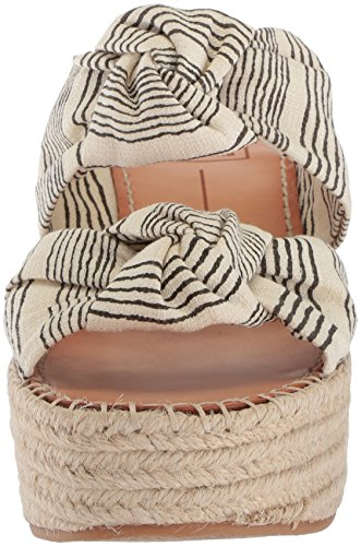 Dolce Vita Women's Lera Espadrille Wedge Sandal Natural/Black Fabric 3uwIS