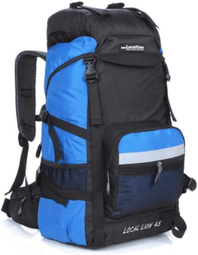 45L Color : Light Blue, Size : 60L Haoyushangmao Outdoor Travel Backpack 60L Latest Models