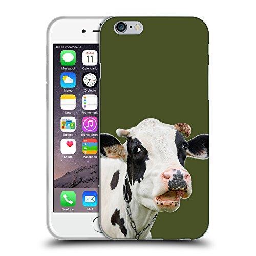 "GoGoMobile Coque de Protection TPU Silicone Case pour // Q05710605 Vache curieuse Army Green // Apple iPhone 6 4.7"""